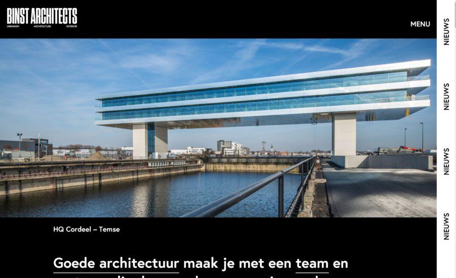 Nieuwe website BINST ARCHITECTS online!