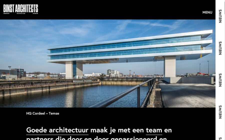 Nieuwe website BINST ARCHITECTS online!