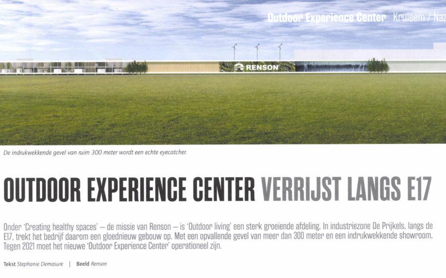 """""""Renson / Outdoor Experience Center"""" in Bouwen aan Vlaanderen"""