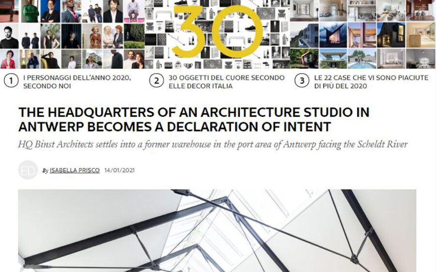 HQ Binst Architects on Elle Decor Italia/best of