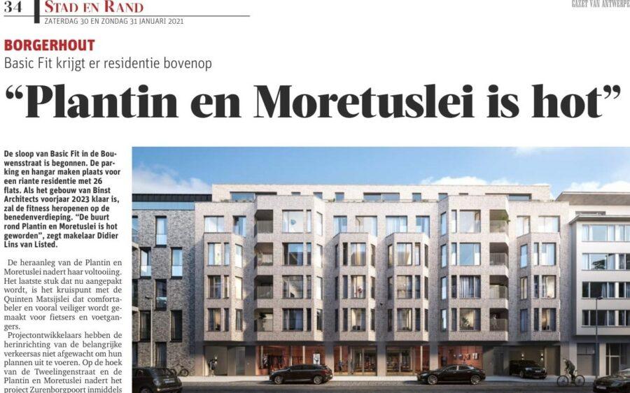 Residentie B37 in Gazet van Antwerpen