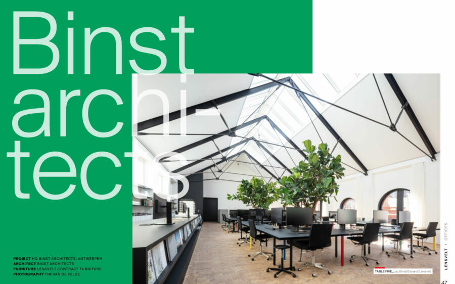 'HQ Binst Architects' in Lensvelt boek