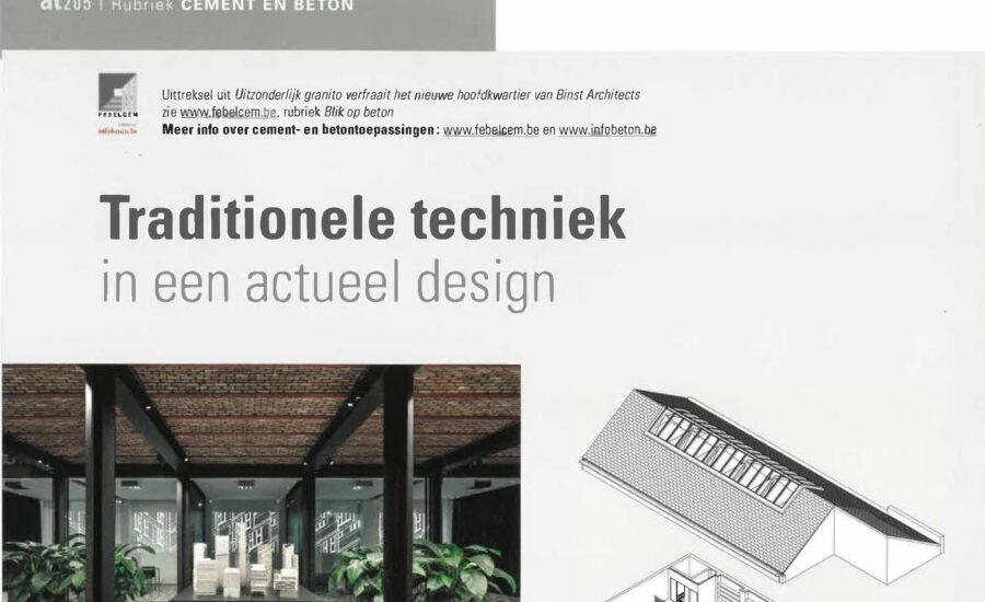 HQ Binst Architects in Architraaf n°205